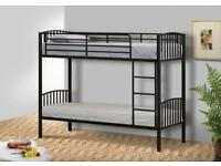 Single metal bunkbeds (black)