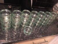 Glass pots X 29