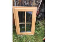 PVC Irish oak window