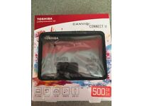 Toshiba Canvio Connect II 500GB Portable Hard drive