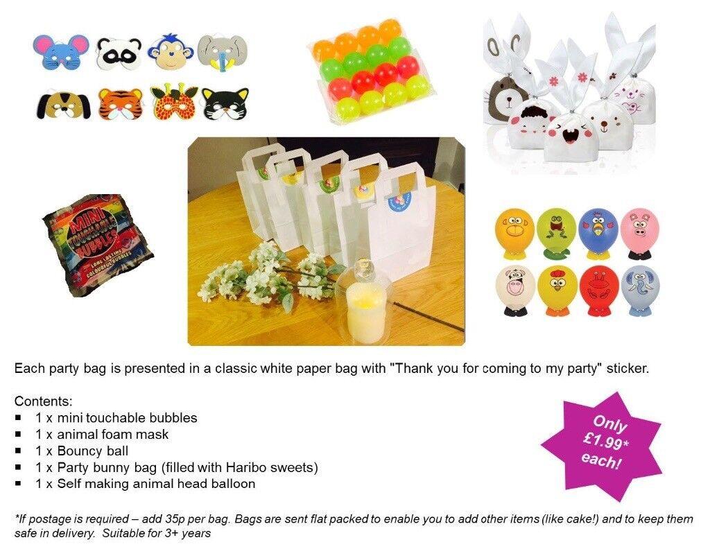 Childrens Pre Filled Party Bags BirthdayPartiesWeddingTreats - Children's birthday parties west yorkshire