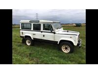 Land Rover defender 110 station wagon. 12 month mot. Rough and ready