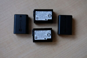 4 Sony NP-FW50 Batteries for Alpha Cameras