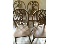 Wheelback dining chairs x 4