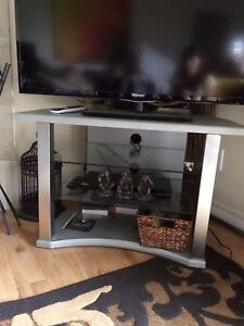 TV Stand with 2 glass shelves
