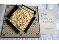 vintage travel scrabble game
