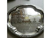Silver Greetings from Ireland Tray