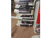 Xbox 360 console with 24 games