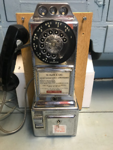 ANTIQUE Chrome (Working) Pay Phone