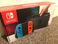 Brand new Nintendo switch, neon colours