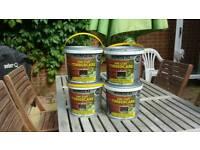 Ron seal fence paint, dark oak, 4 x 5 litre tins