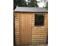 Garden Shed 6x4 (1.8 x 1.2m Pressure Treated Overlap Reverse Apex Shed