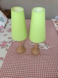 Pair of Next bedside lamps