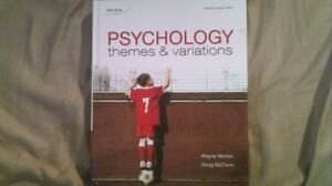 Psychology: Themes and Variations (2nd Edition). Weiten, McCann.