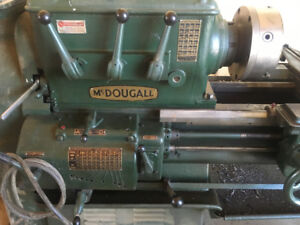 Large older metal lathe