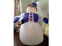 Inflatable outdoor or indoor Snowman 6ft high with LED lights