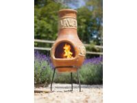Clay Chimenea Wood Burner
