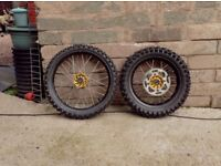 kawasaki kx85 small wheels excel rims talon hubs good condition