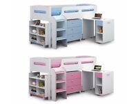 BRAND NEW BOXED JULIAN BOWEN KIMBO CABIN BED SKY BLUE OR PINK CAN DELIVER View Collect Kirkby NG17