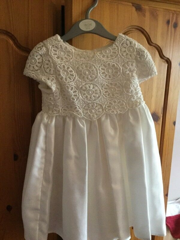 Bambini Ivory Silk Dress 18/24 months