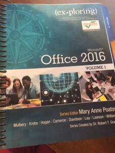 Exploring Microsoft Office 2016 - text book