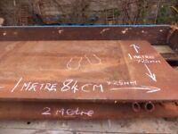 25 mm (1 inch) thick steel 1metre x 1.8 welders bench