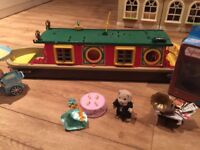 Sylvanian Family Bundle - canal boat. ice cream cart, dance and music set