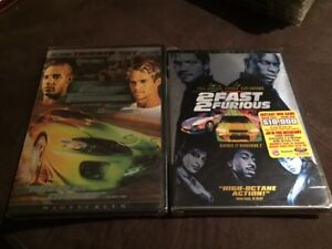 The Fast and the Furious 1 & 2 DVDs - New, Sealed