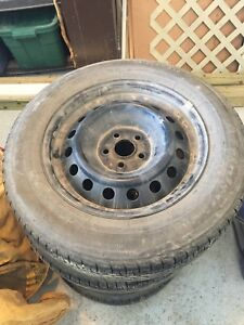 4 Winter steal rims with good summer tire rubber in them.
