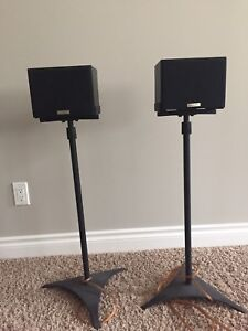 Kenwood surround sound speakers and stands