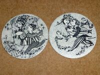 Two Nymolle Month Plates