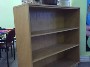 2 Solid birch bookcases