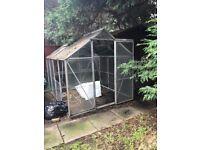 Aluminium glass greenhouse