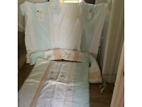 Mothercare Humphreys Corner nursery cot set and curtains etc - Immaculate condition- hardly used