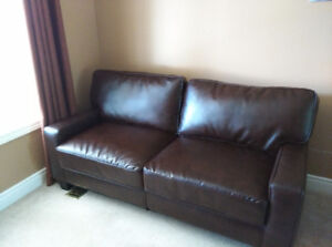 two seat sofa and table