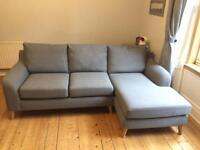 Next corner sofa - grey - excellent condition