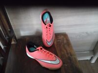 Nike football shoes, size 5