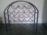 Grey metal wine rack