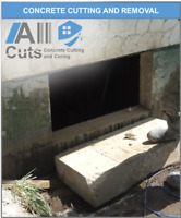 Concrete Window cutting for basement windows and doors