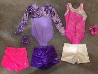Girls Gymnastic Leotards, Shorts & Scrunchies