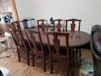 8 Seater Canadian Oak Brown Dining Table