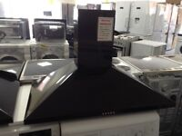 90cm black cooker hood. RRP £169 12 month gtee