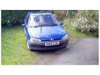 Peugeot 106 1996, mot failure spares or repair