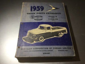 1959 Dodge M & Fargo FM Series Truck Parts Catalogue Canadian