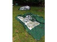 Two large garden Gazebo's with side curtains