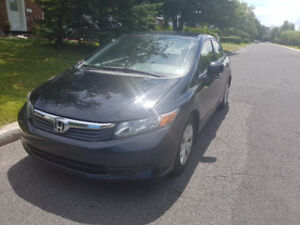 Belle Occasion- 2012 Honda Civic Sedan- Great Deal