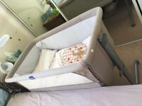 Chicco Next2Me side sleeping crib *excellent condition* dove grey