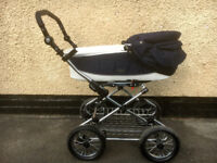 Babystyle Prestige 3 in 1 pram on a Classic Chrome Chassis