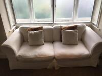 6ft white sofa and an armchair (free)