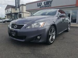 2012 Lexus IS 250 RARE-SPORT PKG-6SPEED-LEATHER-ROOF-98k